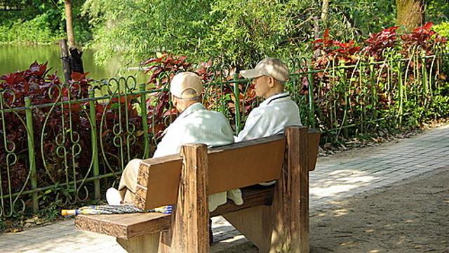 孤獨的退休老人