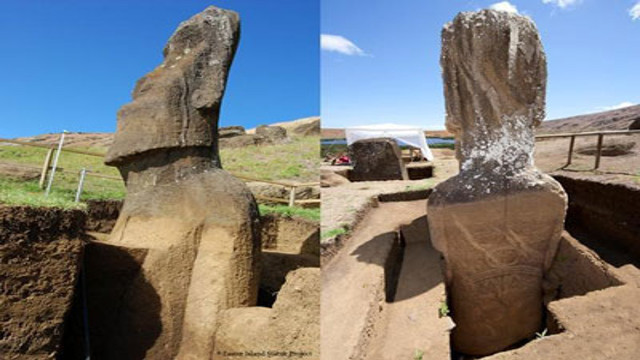 智利复活岛摩艾巨像 moai